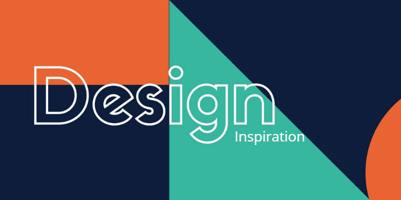 bold colourful image with the words design inspiration is different fonts