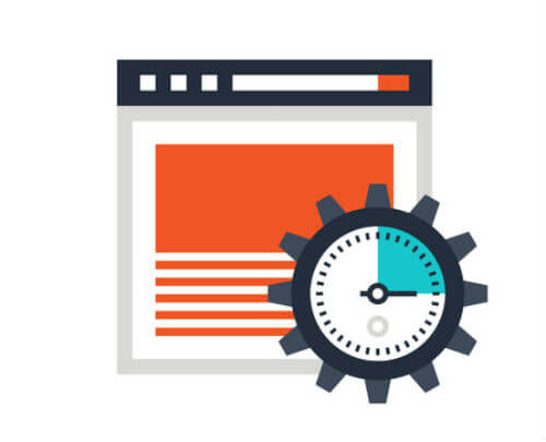 on page optimisation icon showing a vector image of a web page