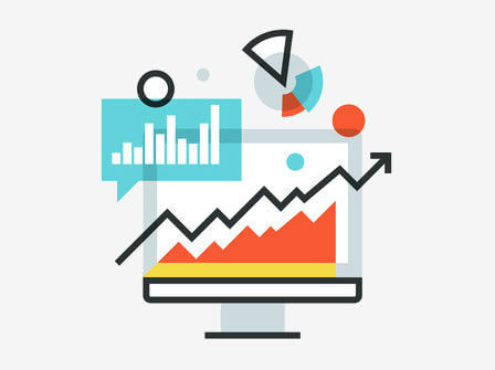 charts and graphs suggesting data analytics and analysis